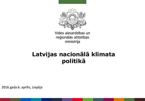 """Ilze Prūse """"Latvijas nacionālā klimata politika"""""""